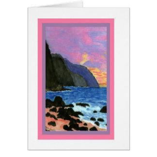 Card-NaPali Sunset, Kauai, Hawaii Card