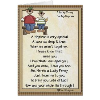 Card-Nephew-Lucky Penny-Glue Penny On Card