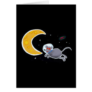 Card of Anniversary - Mouse In Space