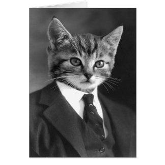 Card of Gentleman Cat