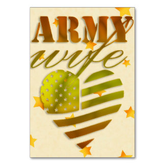 """Card of table """"ARMY Wife """""""