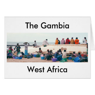 "Card, ""On the Beach, Gambia, West Africa"" Card"