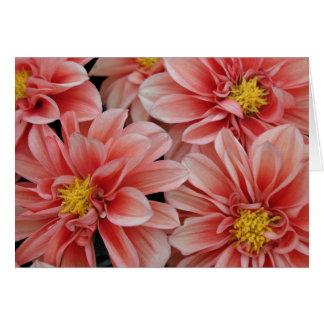 Card, Orange-Red Dahlia #4 Card