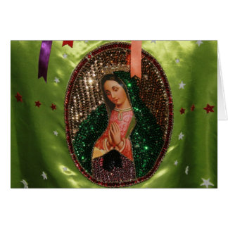 CARD: Our Lady of Guadalupe in Cloth, MEXICO Card