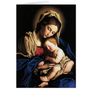 """Card """"Ours Lady and boy Jesus """""""