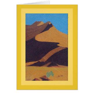 Card: Pastel Desert Dune Art / Digital Design rear Card