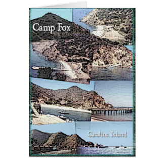 Card: Photo Collage of Camp Fox Catalina Island Card