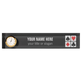 Card Player custom desk name plate