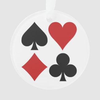 Card Player custom ornament