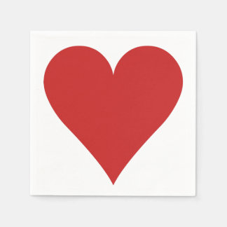 Card Player paper napkins - Heart