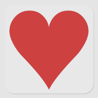 Card Player stickers - Heart