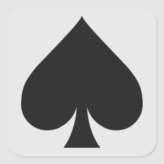 Card Player stickers - Spade