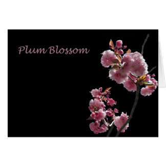 "Card, ""Purple Plum Blossoms"" Card"