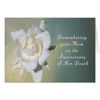 Card, Remembering your Mum on Death Anniversary Greeting Card