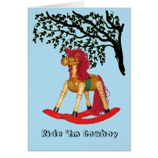 Card - Rocking Horse Greeting Card