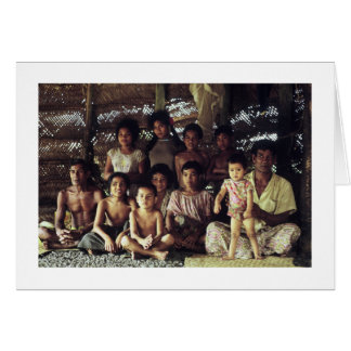 Card, SAMOAN FAMILY PORTRAIT, SAVAII, 1968 Card