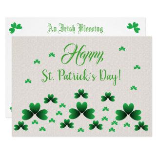 Card - Shamrocks & Irish Blessing