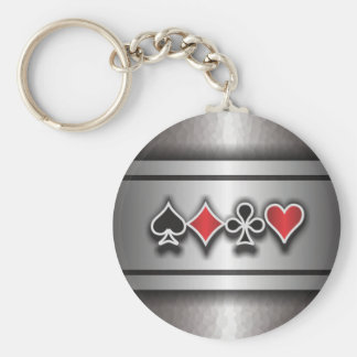 Card Sharp 1 Basic Round Button Keychain