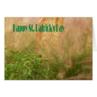 Card St. Patrick's Day with Plants