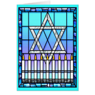 Card: Star Menorah Card