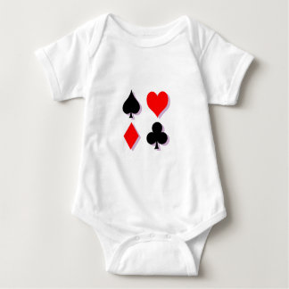 Card Suits Baby Bodysuit