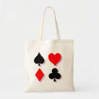 Card Suits Budget Tote Bag