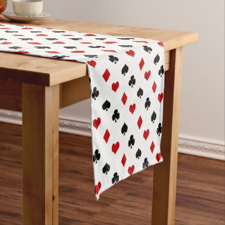 Card Suits Repeating Pattern | Poker Theme Short Table Runner