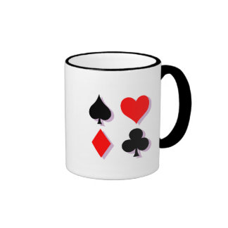 Card Suits Ringer Coffee Mug
