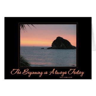 Card: Sunset Sunrise Inspirational message Card