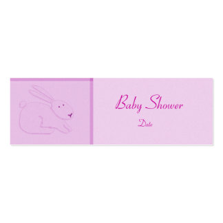 Card Template - Baby Announcement/Shower Mini Business Card