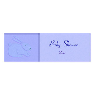 Card Template - Baby Announcement/Shower Pack Of Skinny Business Cards