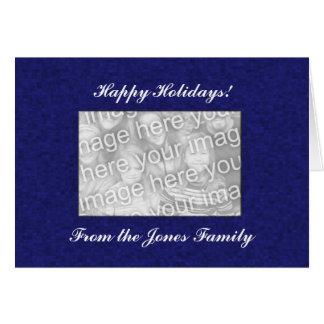Card Template - Blue Mosaic