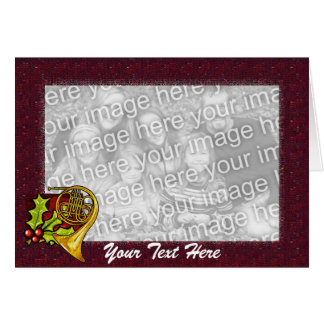 Card Template - Christmas French Horn