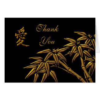 Card Thank You Cards Asian Bamboo Love Symbol