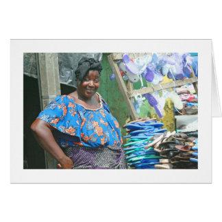 "Card, ""The Abidjan Shoe Lady"" Card"
