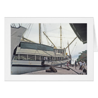 Card, the Dock at Huahine, French Polynesia Card