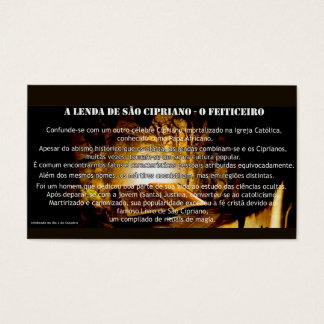 "Card ""the legend of Is Cipriano """
