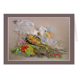 Card - Tiger Gryphon & the Butterfly Fairy