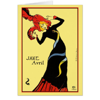 Card: Toulouse Lautrec - Jane Avril Card