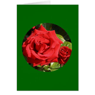 """Card, """"Two Red Roses in Circle"""" O-1 Card"""