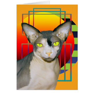 Card | Vamp Sphynx Cat (Orange)