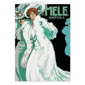 Card: Vintage Art - Womens' Fashion - Mele Card