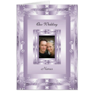 Card Wedding Engagement Add Photo Mauve Lilac