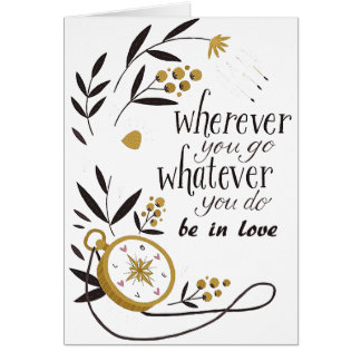 "Card ""Wherever you go to whatever… """