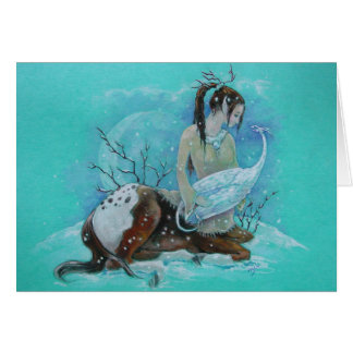 Card - Winter Centaur & Snow Dragon