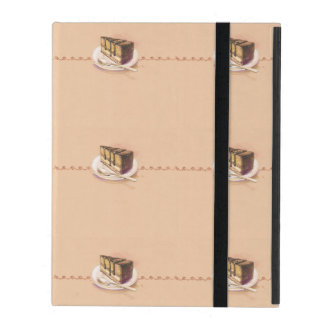 Card with painted watercolor cake case for iPad