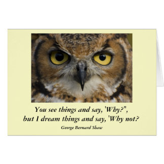 Card with Quote - Owls Eyes