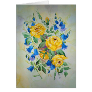 Card with romantic poem inside