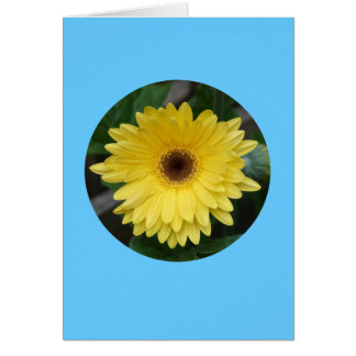 "Card, ""Yellow Gerber Daisy in Circle"" C-1 Card"