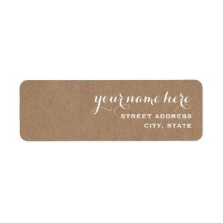 Cardboard Inspired Address Label